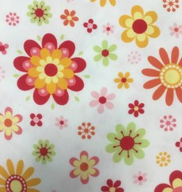 RILEY BLAKE CREAM-PINK/RED FLORAL