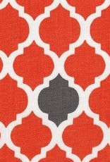 Fabric Finders FF ORANGE/GREY QUATREFOIL- small