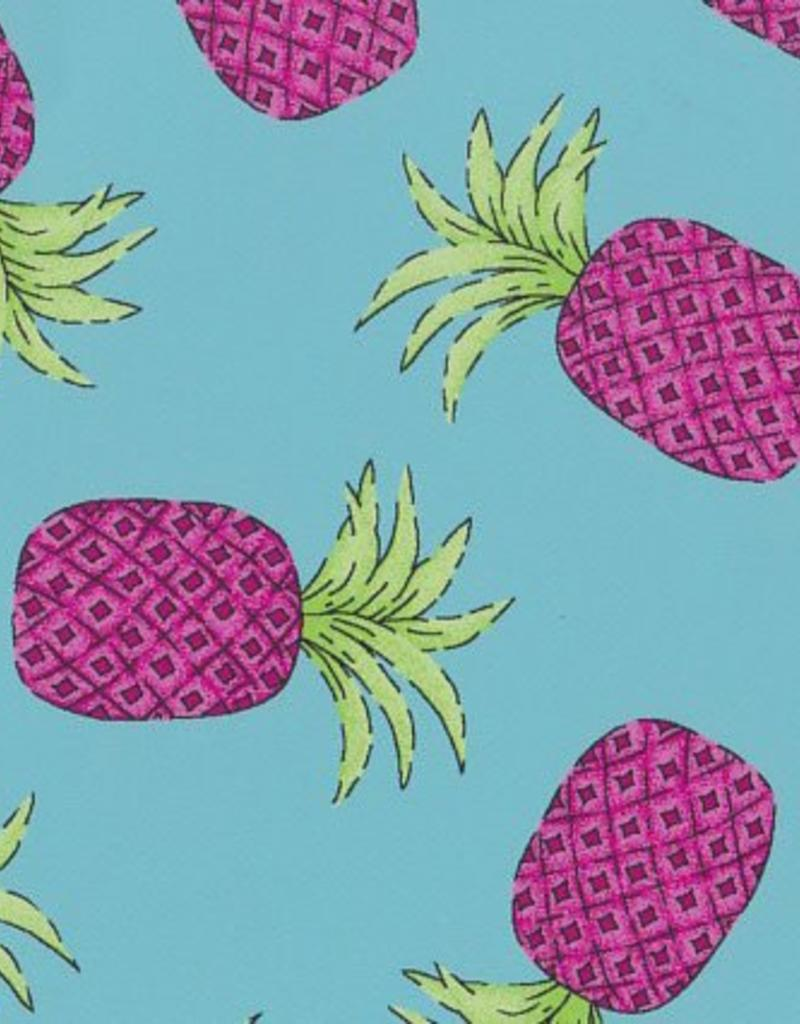 Fabric Finders FF 2100 AQUA / PINK PINEAPPLE