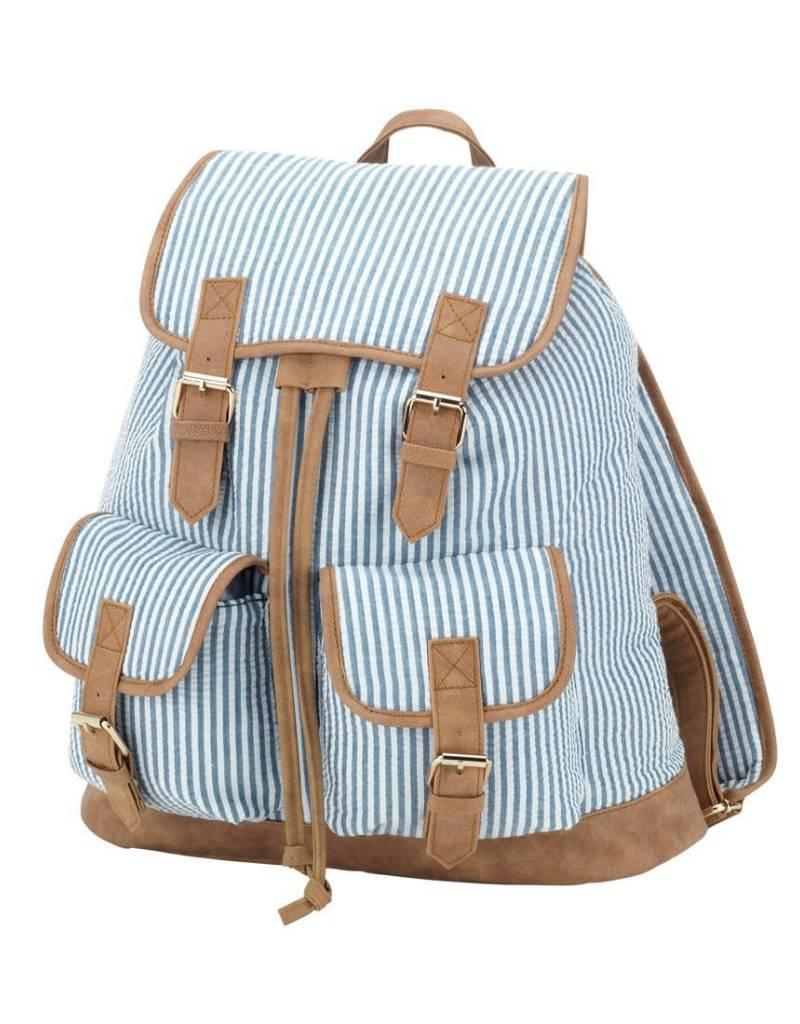 Seersucker Campus Backpack