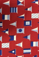 Fabric Finders FF RED W/ BLUE FLAGS