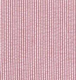 Fabric Finders FF RED SEERSUCKER WIDE STRIPE