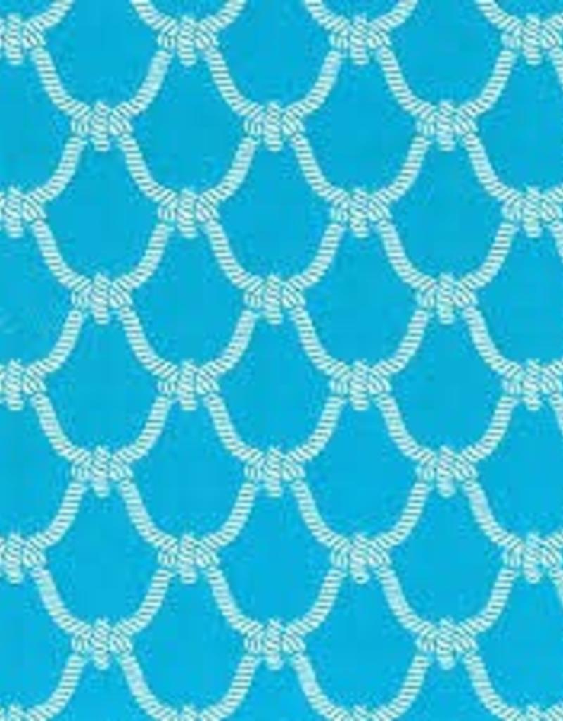 Fabric Finders FF AQUA ROPE QUATREFOIL SMALL