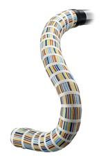 Serfas Woven Bar Tape, Blue Yellow Gold Stripe