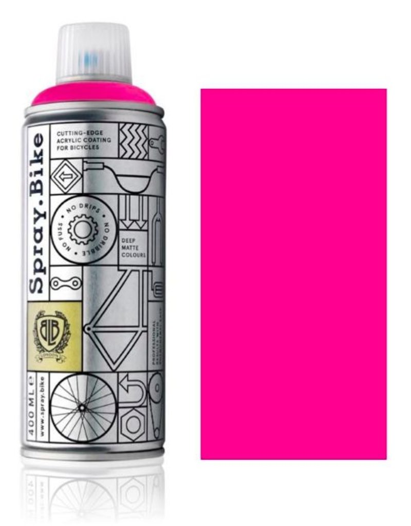 Fluro Pink 400 ml, Spray.Bike