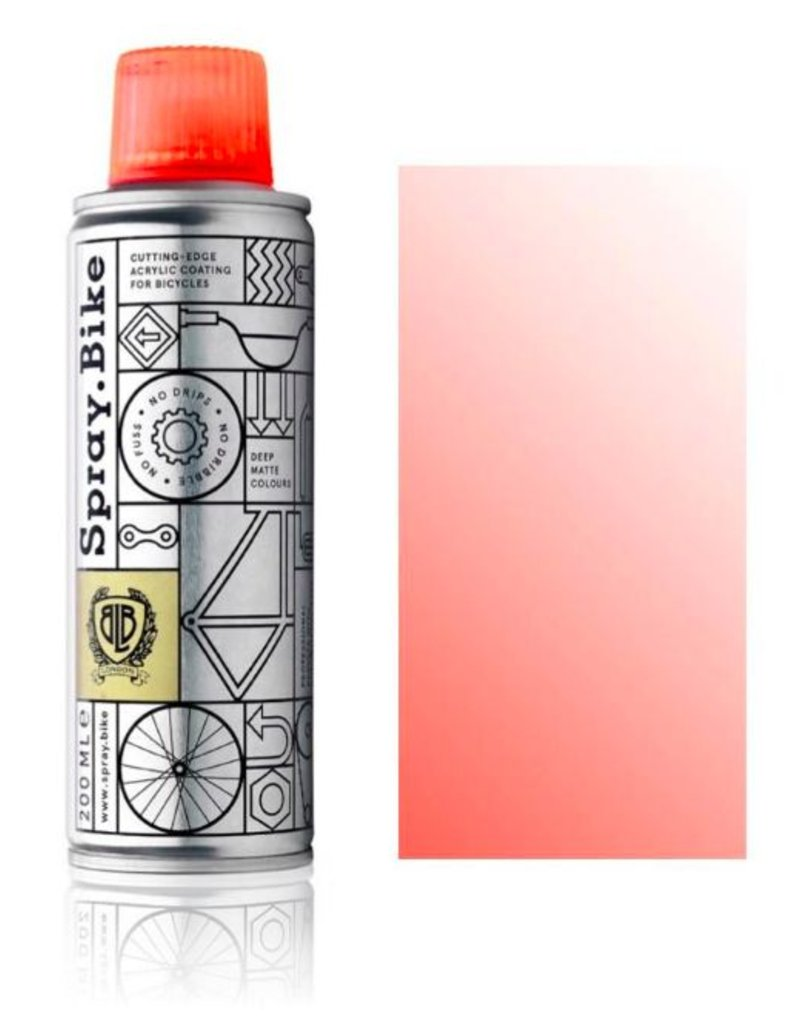 Clear Fluro Sunset Pink 200 ml, Spray.Bike