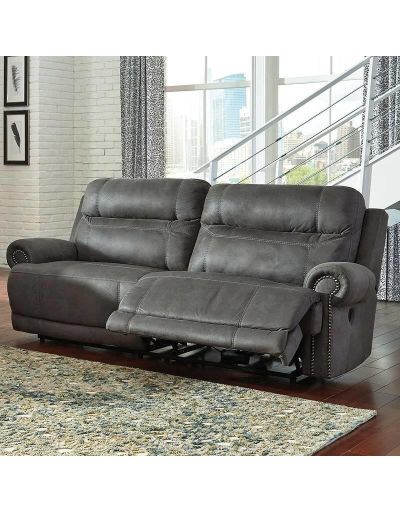 Ashley Furniture Austere Reclining Sofa Grey
