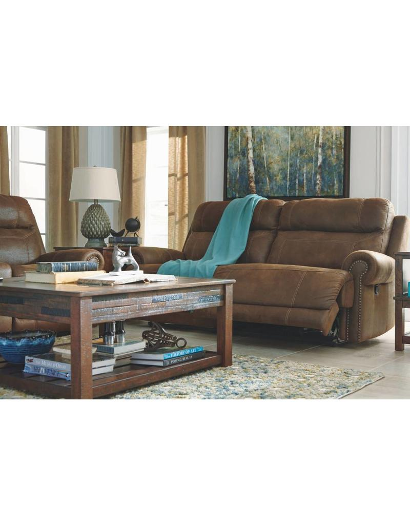Ashley Furniture Austere Power Reclining Sofa   Brown ...