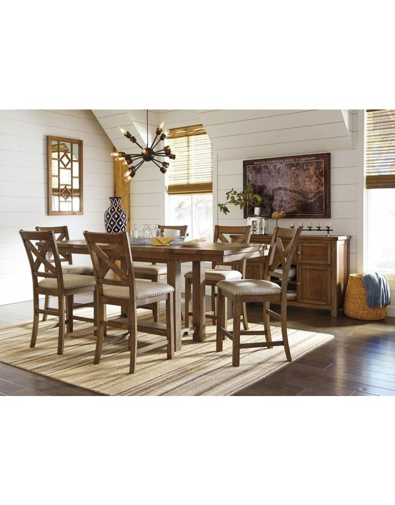 Ashley Furniture Moriville 6 Piece Counter Height Dining Set ...