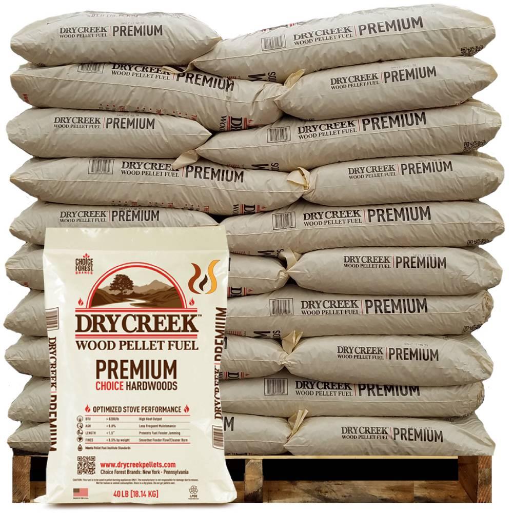 Dry creek wood pellet fuel ton bucks pellets