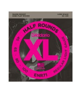 D'ADDARIO ENR71 XL Half Round Semi-Flat Wound Long Scale Bass Strings