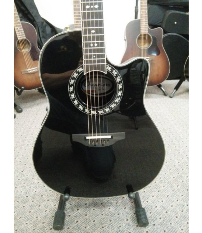 OVATION OVATION LEGEND 2077 AX GLOSS BLACK W/OVATION CASE