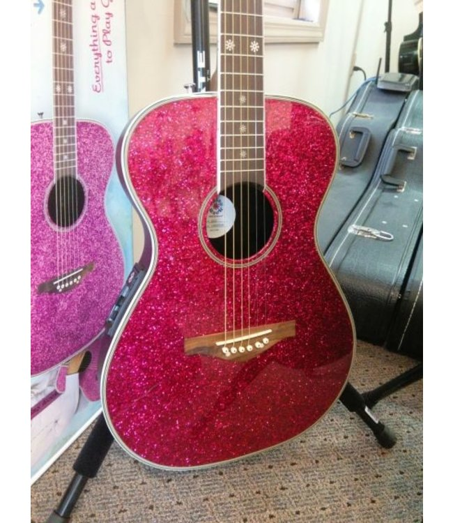 DAISY ROCK DAISY ROCK ACOUSTIC ELECTRIC PIXIE GUITAR ACOUSTIC ELECTRIC STARTER PACK PINK SPARKLE