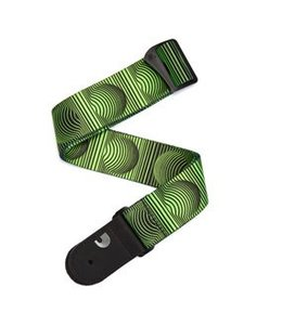 D'ADDARIO Polyester Guitar Strap, Optical Art, Green Orbs