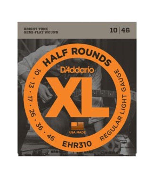 D'ADDARIO EHR310 Half Rounds, Regular Light, 10-46