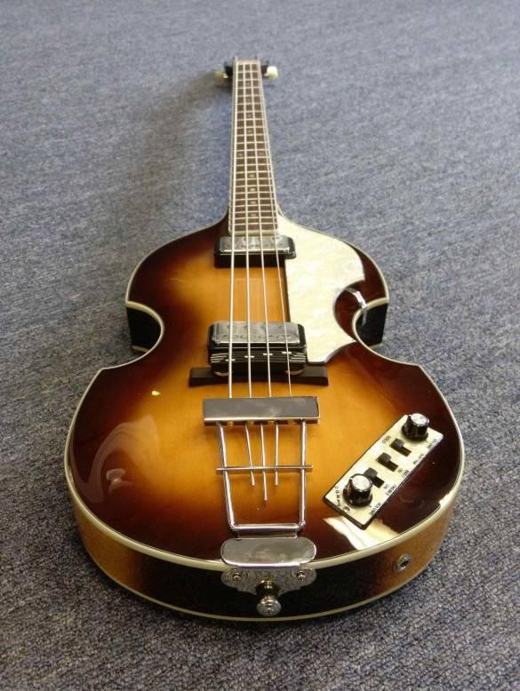 Hofner Hits Guitars On Main's Showroom