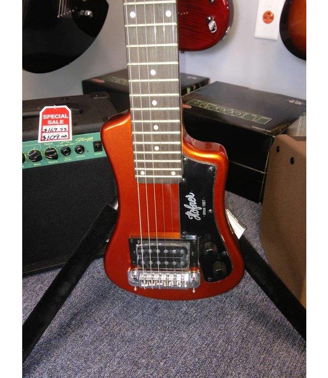 HOFNER Hofner Shorty Travel Guitar Metallic Orange w/ Gig Bag