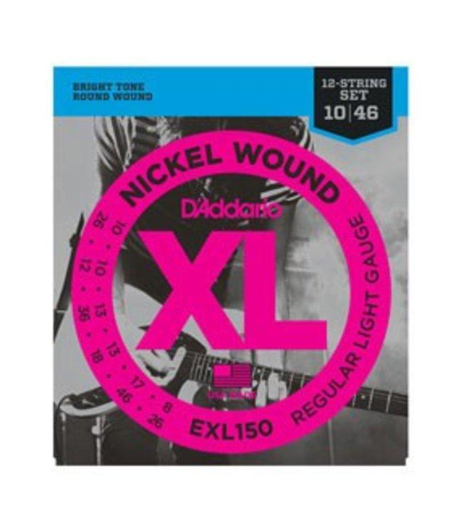 D'ADDARIO EXL150 Nickel Wound, 12-String, Regular Light, 10-46