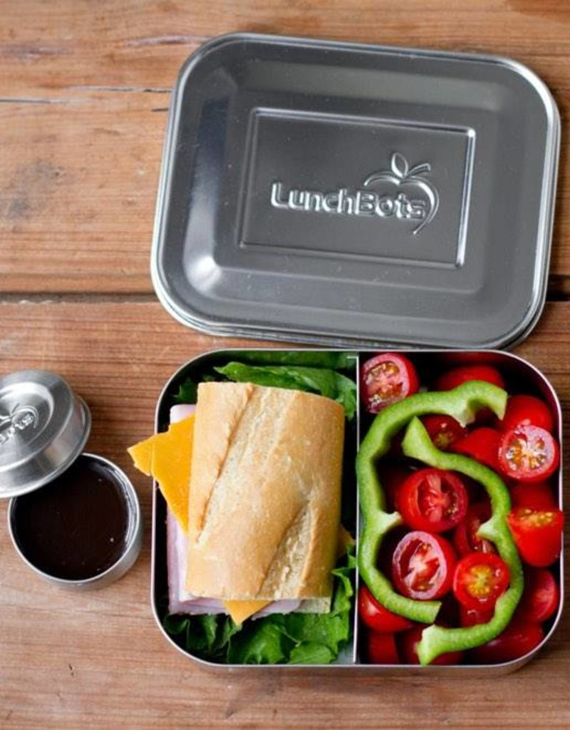 LunchBots Stainless Steel Bento Box Duo