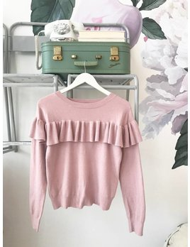 Pink Ruffled Sweater