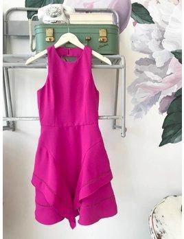 Gemma Magenta Woven Fit & Flare Dress