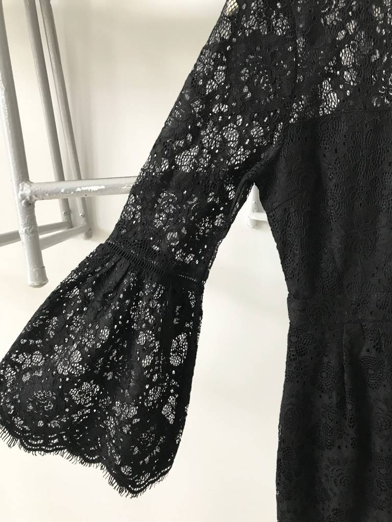 Gabby Bell Sleeve Lace Romper