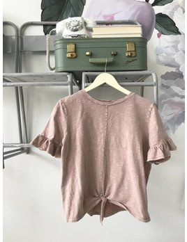 Vintage Wash Knot Front Tee