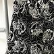 White & Black Embroidered Skirt