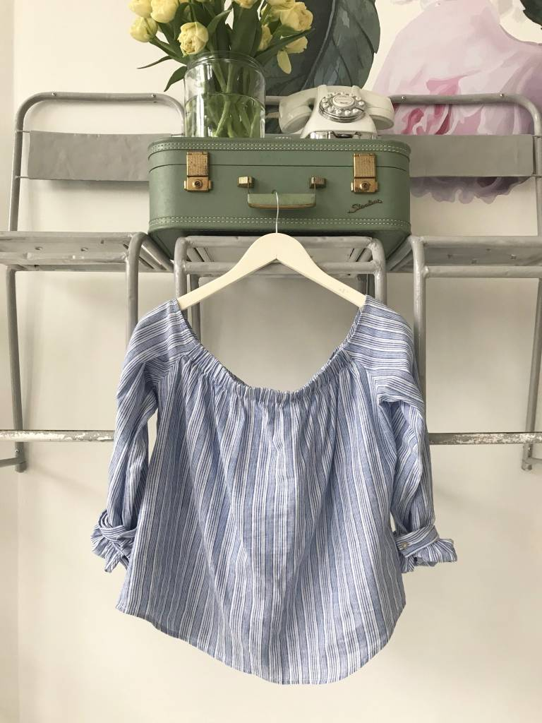 Hello There Beautiful Striped Off The Shoulder Top