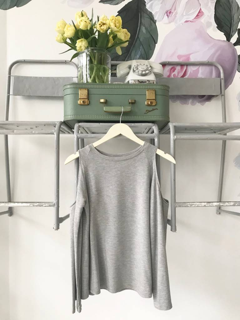 French Terry Cold Shoulder Sweatshirt