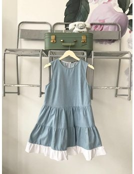 Tiered Chambray Dress