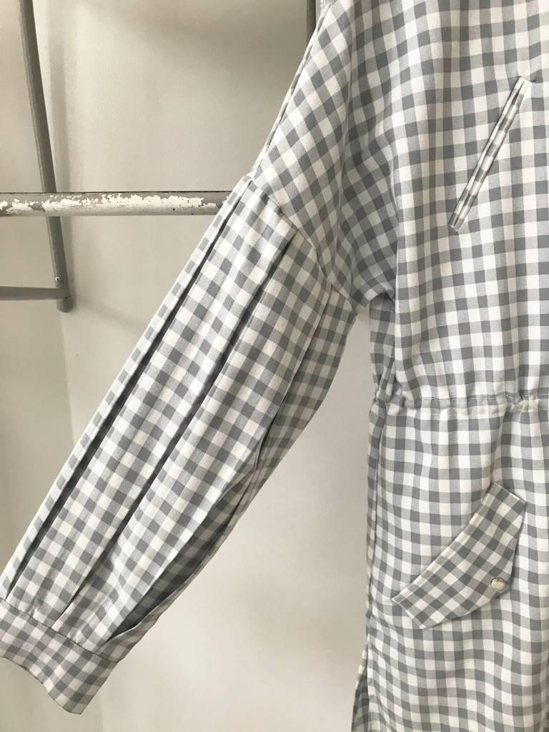 Grey Gingham Lightweight Jacket
