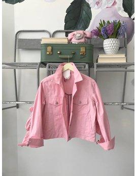 Pink Ruffled Denim Jacket
