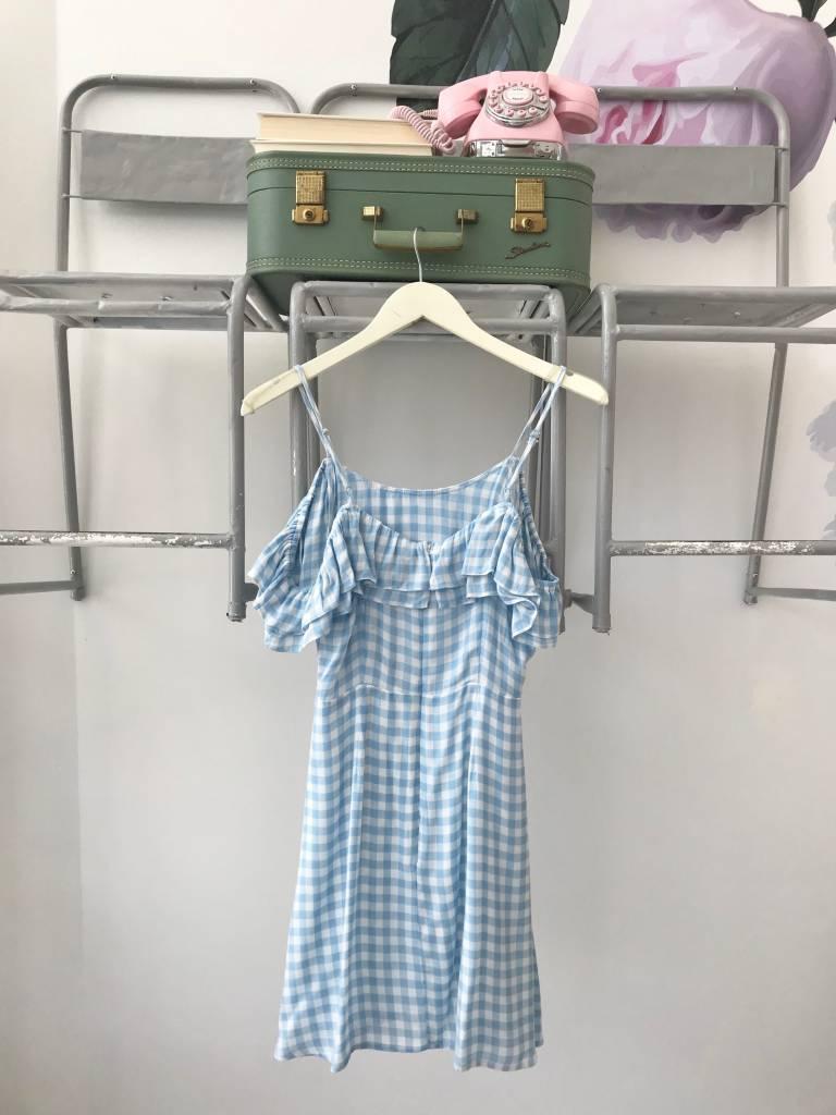 FIESTA Blue Gingham Mini Dress