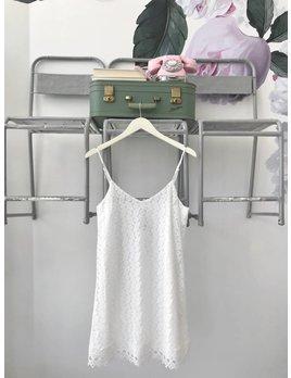 Gemma White Lace Tank Dress
