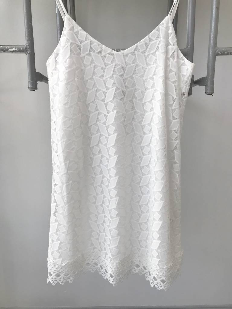 Gemma White Lace Tank Dress