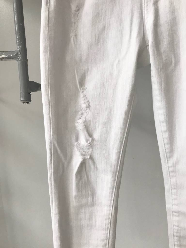 Summer White Deconstructed Jeans