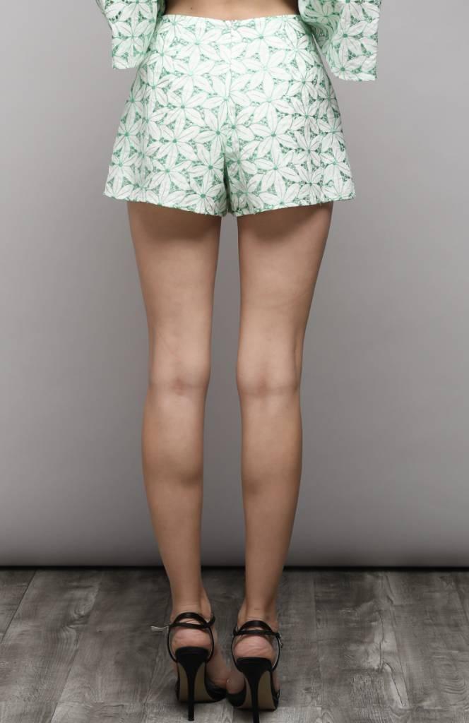 Eyelet Lace Shorts LIME