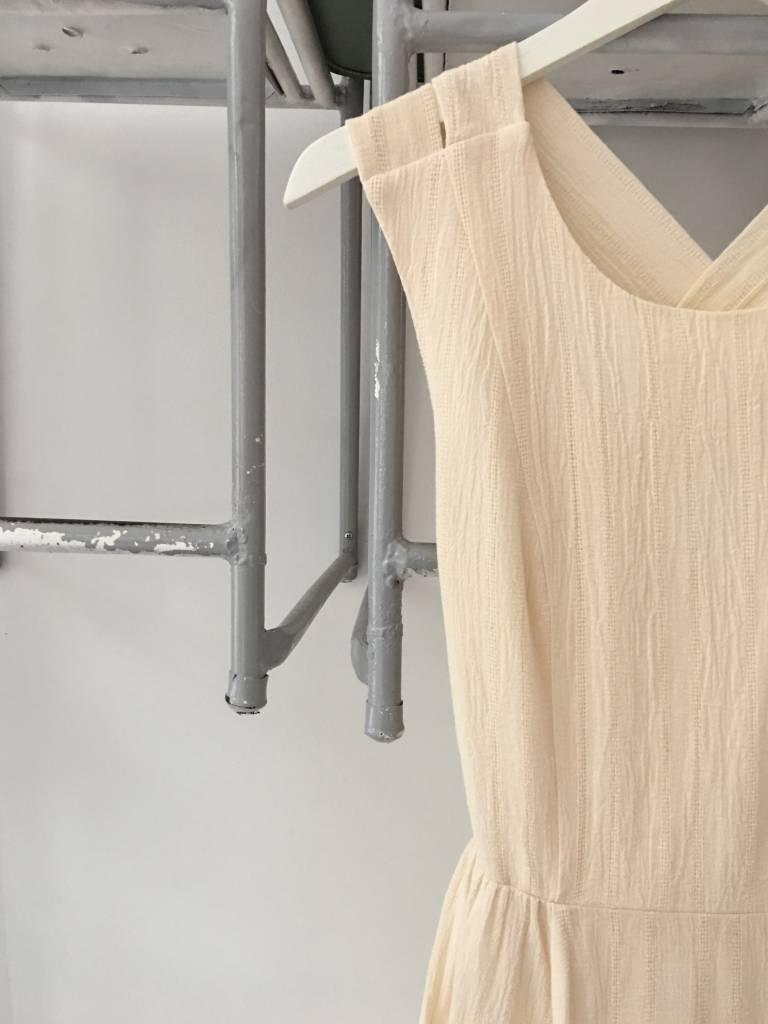 Cross Back Textured Midi Dress