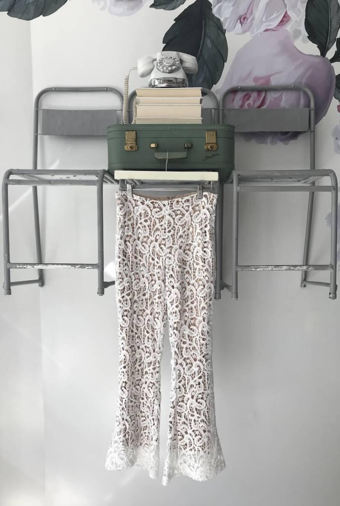 Ivory Lace Kickflare Pant