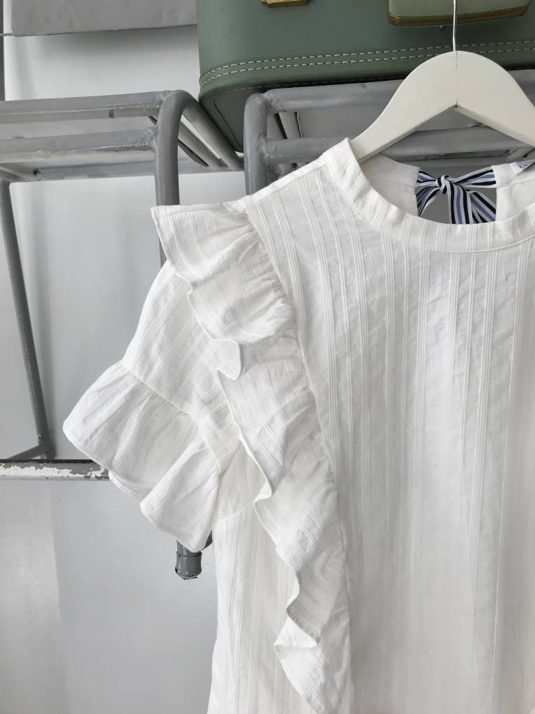 Cascading Ruffle Dress WHITE