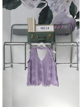 Lilac Lace Band Neck Top