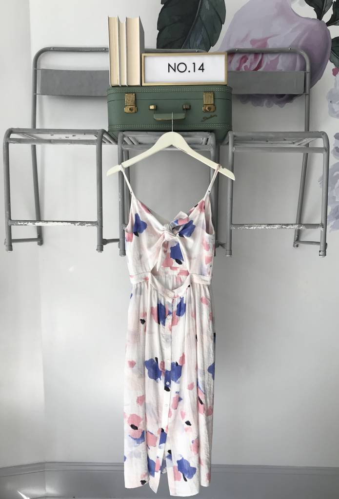 Floral Tank Dress with Tie