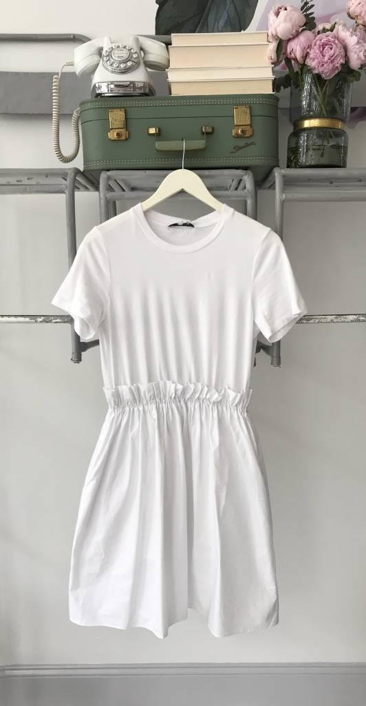 Mixed Media Fit & Flare Dress