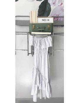 Striped Hi Low Maxi Dress