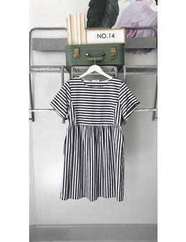 Striped Smocked Dress