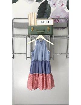 Gingham Check Halter Dress