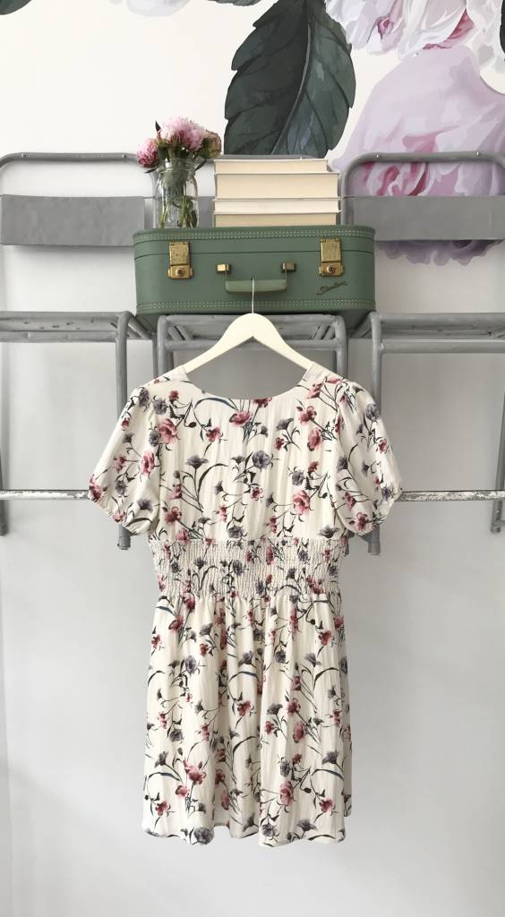 White Floral Fit & Flare Dress