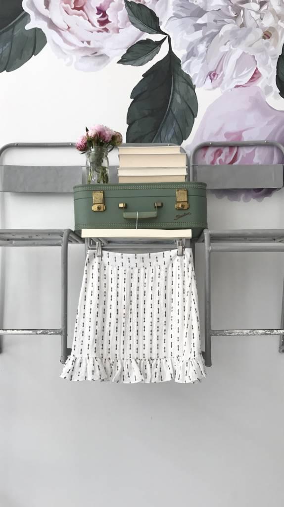 Ruffle Printed Skirt