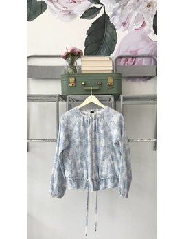 Sky Blue Brocade Jacket